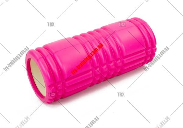 Массажный ролик Grid Roller 1.0: цвет - розовый