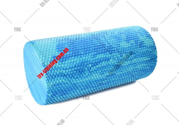 Массажный валик Foam Roller 30: Массажный валик синий-голубой