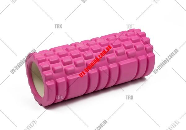 Масажний ролик Grid Roller 1.1: цвет - розовый