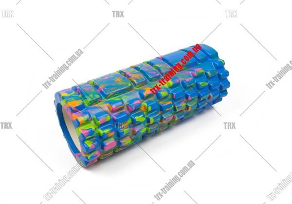 Масажний ролик Grid Roller 1.1 Multicolor: мультиколор синий
