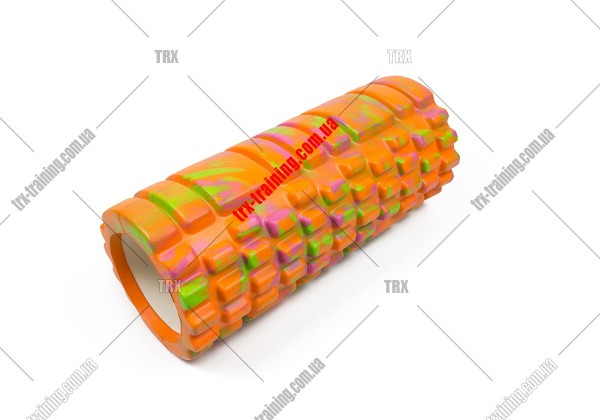 Массажный ролик Grid Roller 1.1 Multicolor: мультиколор оранжевый