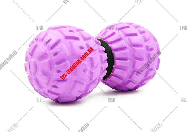 Масажний м'ячик подвійний DuoBall: сиреневый EVA 13,5x6,5 см