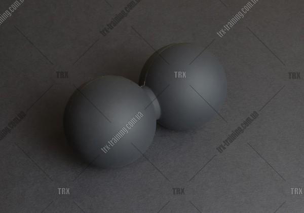Масажний м'ячик подвійний DuoBall:  термопластичная резина 13х6,5 см