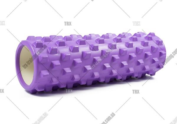 Массажный ролик Grid Roller PRO 2.0: цвет - фиолетовый