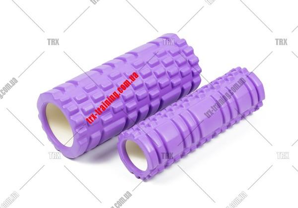 Массажный ролик двойной Grid Roller 1.1 Double: Цвет - фиолетовый