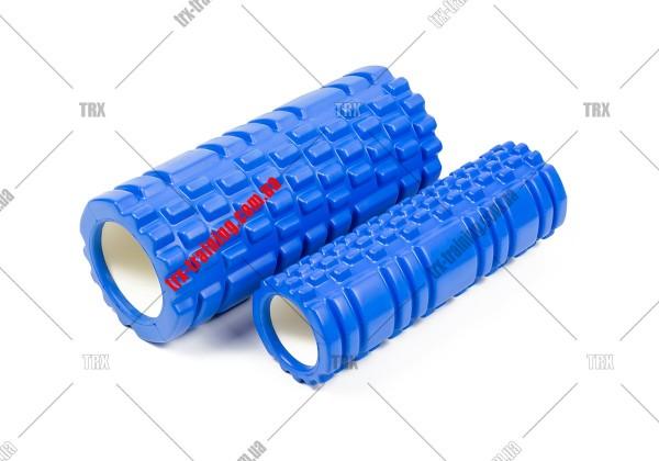 Массажный ролик двойной Grid Roller 1.1 Double: Цвет - синий