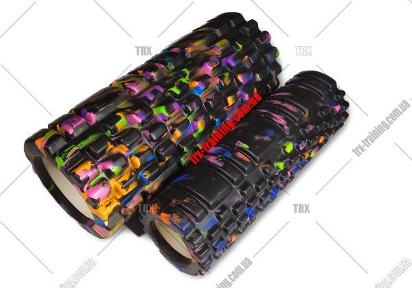 Массажный ролик двойной Grid Roller 1.1 Double: Цвет - черный multicolor