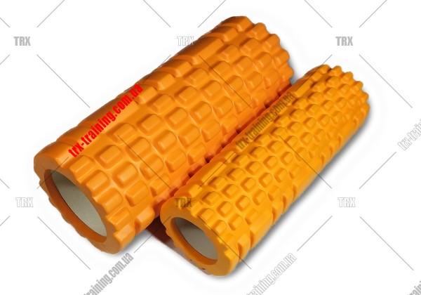 Массажный ролик двойной Grid Roller 1.1 Double: Цвет - оранжевый