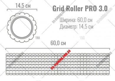 Массажный ролик Grid Roller PRO 3.0: цвет - салатовій