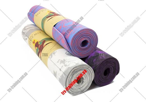 Килимок для фітнесу та йоги TPE + TC multicolor